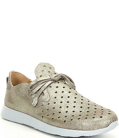 Nurture Jaqueetwo Metallic Suede Perforated Sneakers