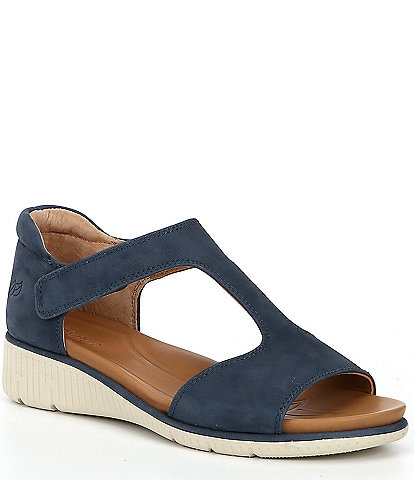 Nurture Surrie Leather T-Strap Wedge Sandals