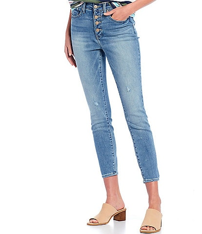 NYDJ Ami High Rise Exposed Button Fly Skinny Jeans