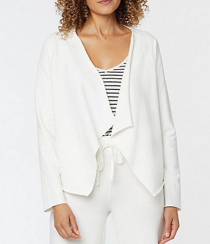 NYDJ Drape Open Front Long Sleeve Knit Cardigan