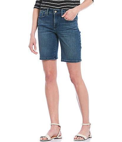 NYDJ Ella Side Seam Slit Denim Shorts