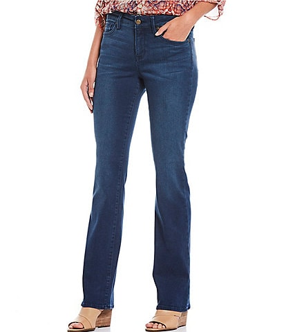 NYDJ Marilyn Straight Leg Back Pocket Embroidered Detail Jeans