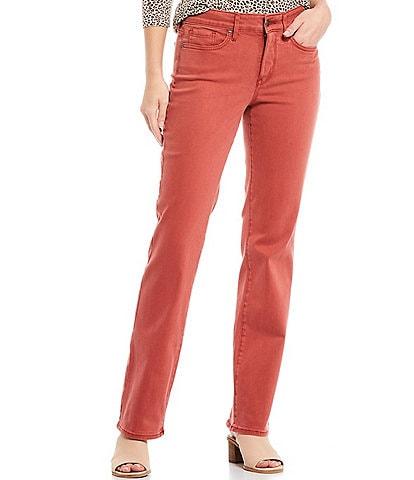 NYDJ Marilyn Straight Leg Mid Rise Jeans