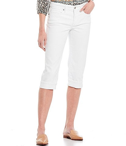 NYDJ Petite Size Marilyn Cuffed Crop Cool Embrace® Denim Jeans