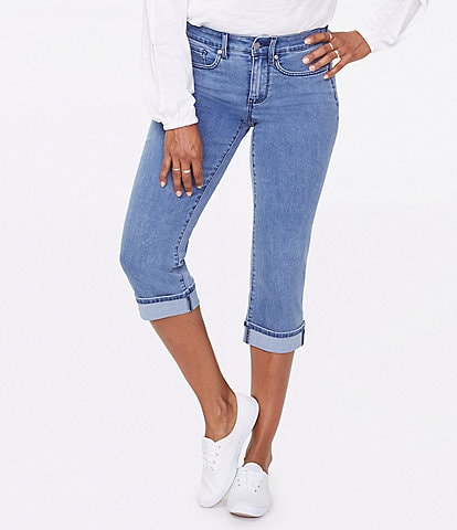 NYDJ Petite Size Marilyn Cuffed Crop Cool Embrace® Denim Jeans