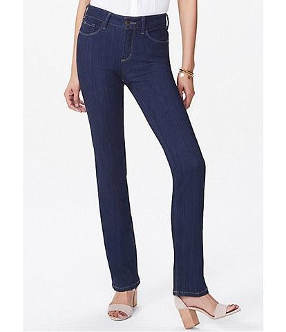 NYDJ Petite Size Marilyn Stretch Denim Straight Leg Jeans