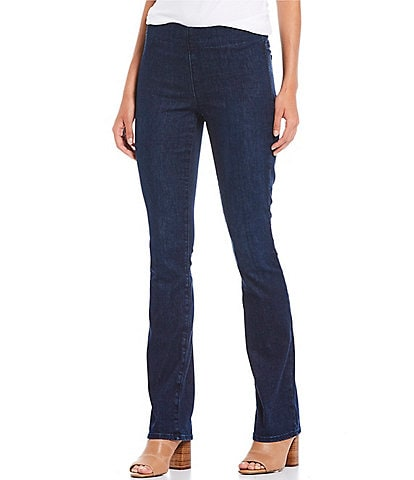 NYDJ Petite Size Marilyn Straight Leg Pull-On Jeans