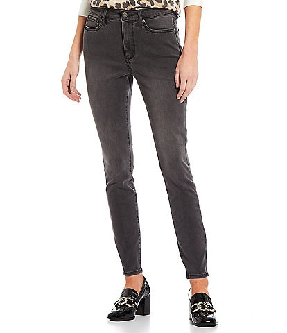 NYDJ Petite Size Mid Rise Ankle Ami Skinny Jeans