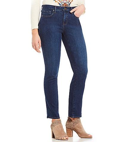 NYDJ Petite Size Sheri Slim Tonal Stitch Jeans