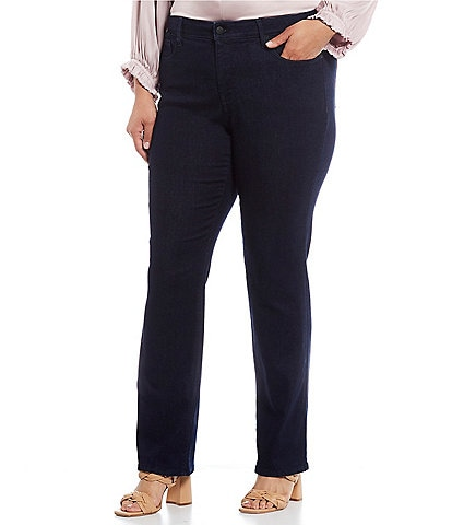 05d006303bb NYDJ Plus Marilyn Straight Denim Jeans