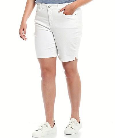NYDJ Plus Size Ella High Rise Shorts