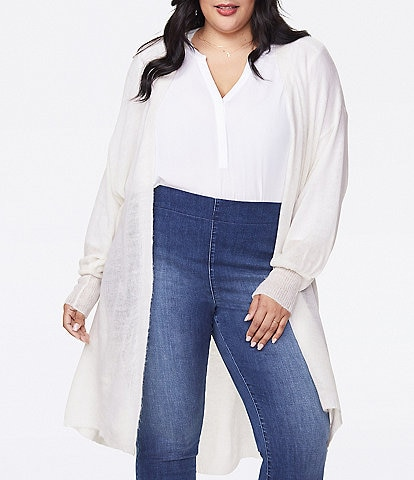 NYDJ Plus Size Featherweight Open Front Cardigan