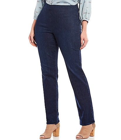 NYDJ Plus Size Marilyn Straight Leg Pull-On Jeans
