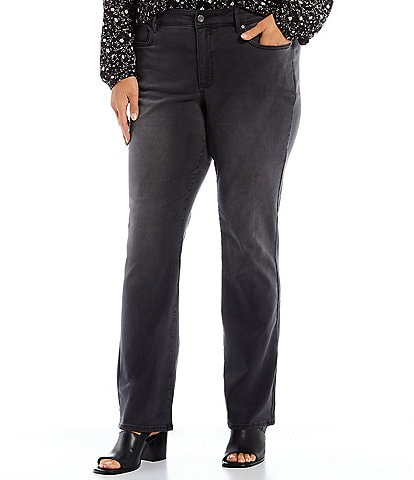 NYDJ Plus Size Marilyn Straight Leg Stretch Denim Jeans