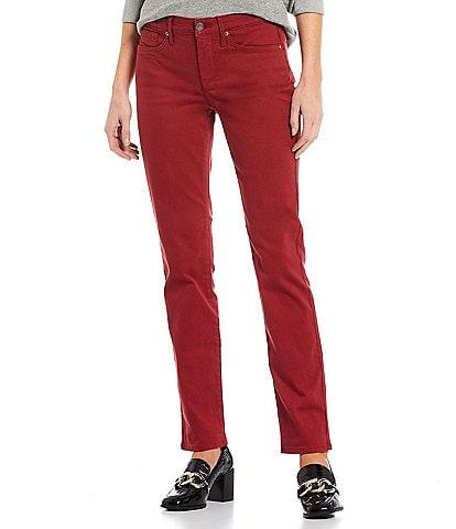 NYDJ Sheri Straight Slim Leg 5 Pocket Jeans