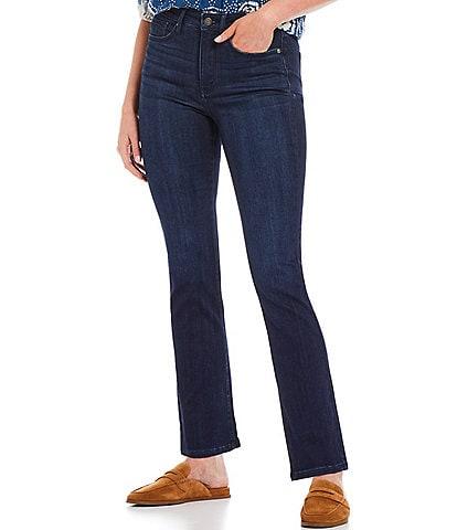 NYDJ Petite Size Slim Stretch Denim Mid Rise Bootcut Jeans