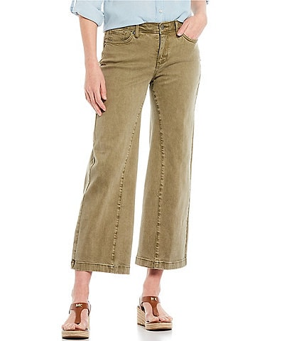 NYDJ Teresa Trouser Ankle Contoured Inseam Cropped Wide Leg Jeans