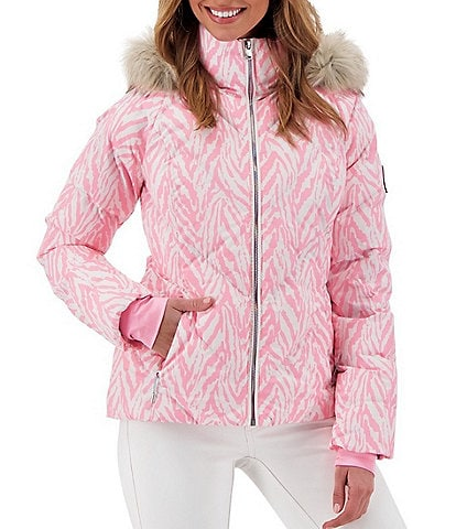 Obermeyer Bombshell HydroBlock® Sport Chevron Quilted Faux Down Hooded Jacket