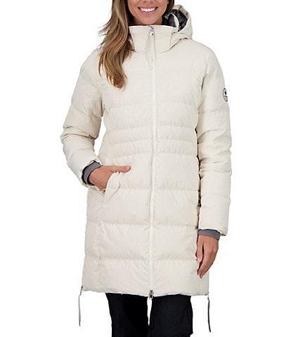 Obermeyer Hemera HydroBlock® Sport Stand Collar Long Sleeve Hooded Down Puffer Parka
