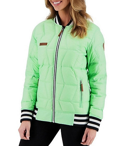 Obermeyer Paige HydroBlock® Classic Quilted Down Long Sleeve Jacket