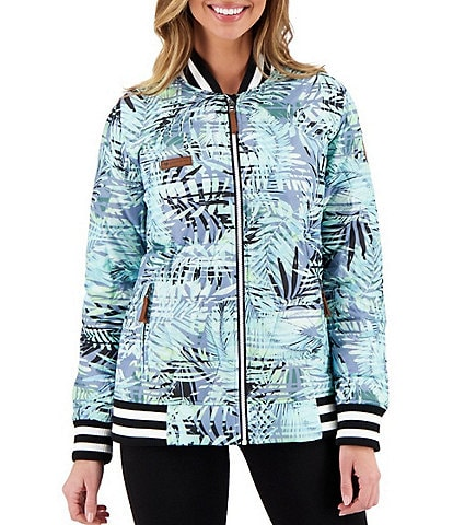 Obermeyer Paige HydroBlock® Classic Quilted Down Tropical Print Jacket
