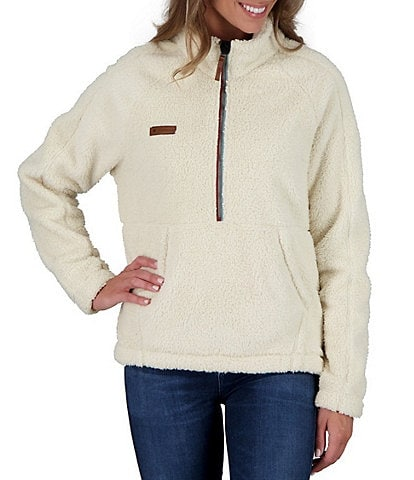 Obermeyer Piper Quarter Zip Long Raglan Sleeve Sherpa Pullover