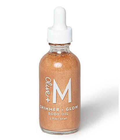 Olive + M Shimmer and Glow Body Oil, 2 oz.