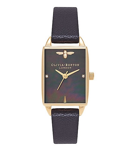 Olivia Burton Bee Hive Black Mother of Pearl Watch