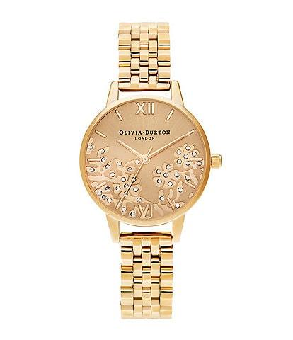 Olivia Burton Bejewelled Lace Gold Bracelet Watch