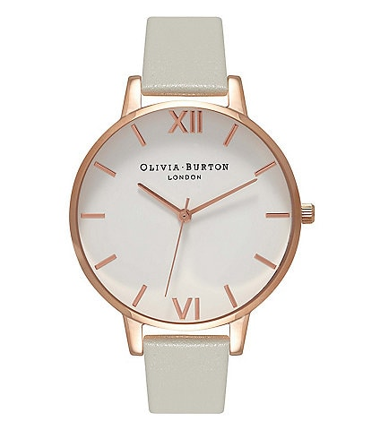Olivia Burton Big Dial Grey & Rose Gold Watch