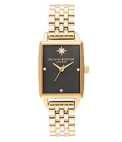 Olivia Burton Celestial Black Mother of Pearl Dial & Gold Bracelet Watch