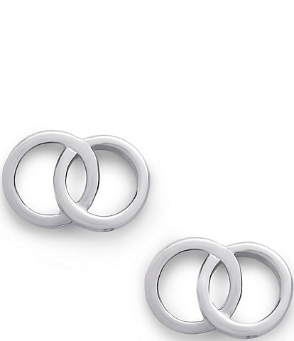 Olivia Burton Classics Interlink Hoop Stud Earrings