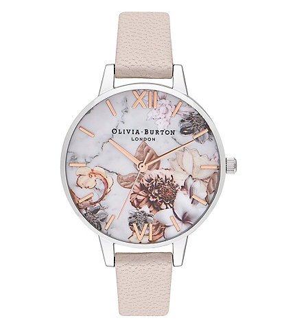 Olivia Burton Demi Pearl Pink Rose Gold & Silver Watch