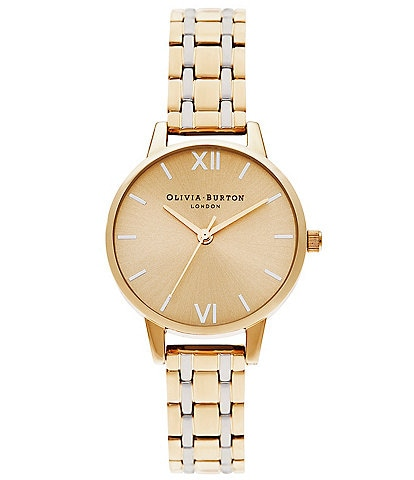 Olivia Burton Midi Dial Pale Gold & Silver Watch