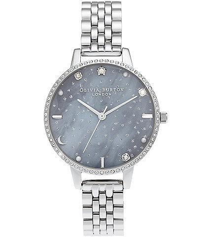 Olivia Burton Night Sky Demi Dial Silver Bracelet Watch