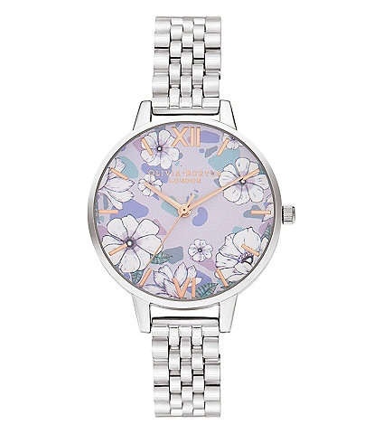 Olivia Burton Quartz Analog Groovy Blooms Stainless Steel Bracelet Watch