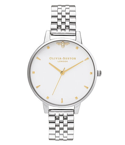Olivia Burton Queen Bee Quartz Analog Stainless Steel Bracelet Watch