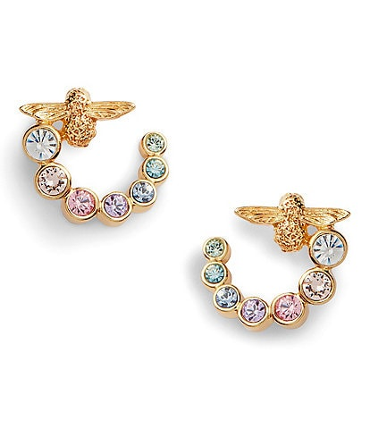Olivia Burton Rainbow Embellished Bee Swirl Stud Earrings