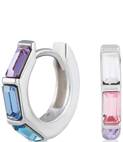 Olivia Burton Rainbow Embellished Huggie Hoop Earrings