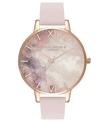 Olivia Burton Semi Precious Blossom & Rose Gold Watch