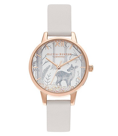 Olivia Burton Snow Globe Vegan Blush & Rose Gold Quartz Analog Watch