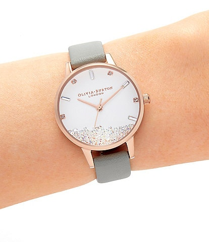 Olivia Burton The Wishing Watch Grey & Rose Gold Watch