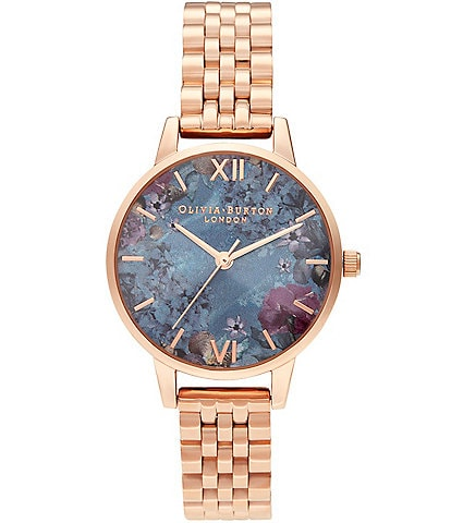 Olivia Burton Under The Sea Rose Gold Bracelet Watch