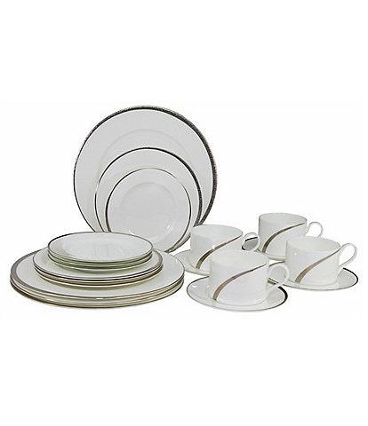 Oneida Cabria Asymmetrical 20-Piece Bone China Dinnerware Set