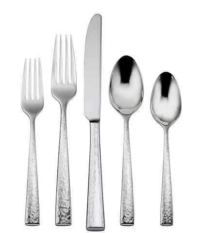 Oneida Cabria Hammered 45-Piece Stainless Steel Flatware Set