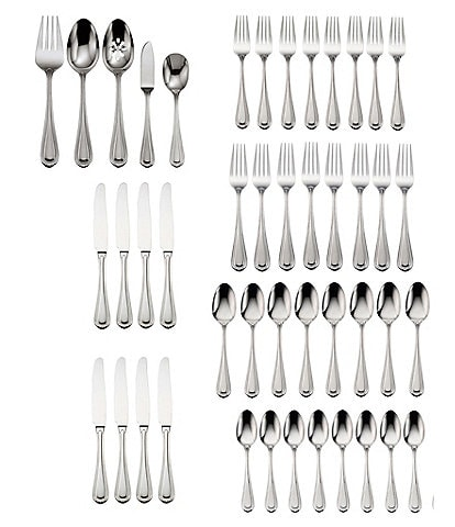 Oneida Countess Stainless Steel 45-Piece Casual Flatware Set