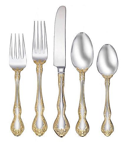 Oneida Golden Mandolina 45-Piece Stainless Steel Flatware Set