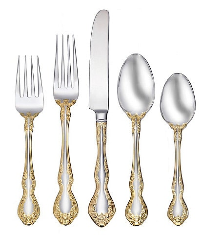 Oneida Golden Mandolina 45-Piece Stainless Steel Flatware Set