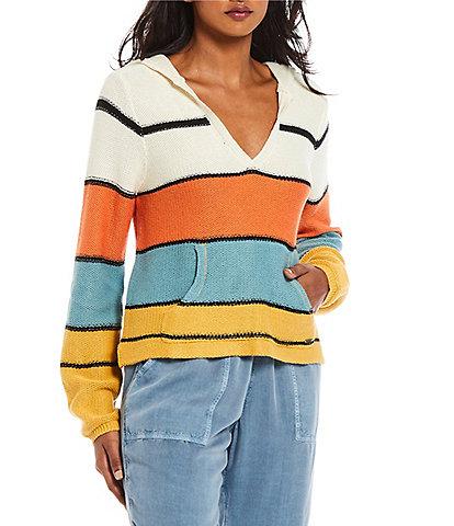 O'Neill Catalina Long-Sleeve Yarn-Dyed-Stripe Acrylic-Blend Sweater