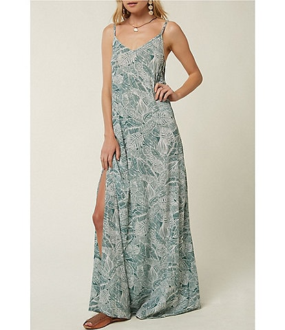 O'Neill Jupiter Tropical Print Maxi Dress